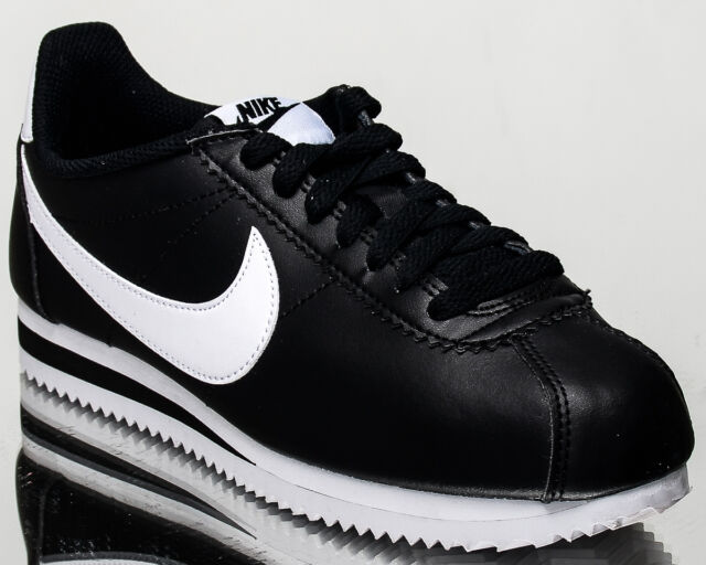 Nike WMNS Classic Cortez Leather women lifestyle sneakers NEW black 807471-010
