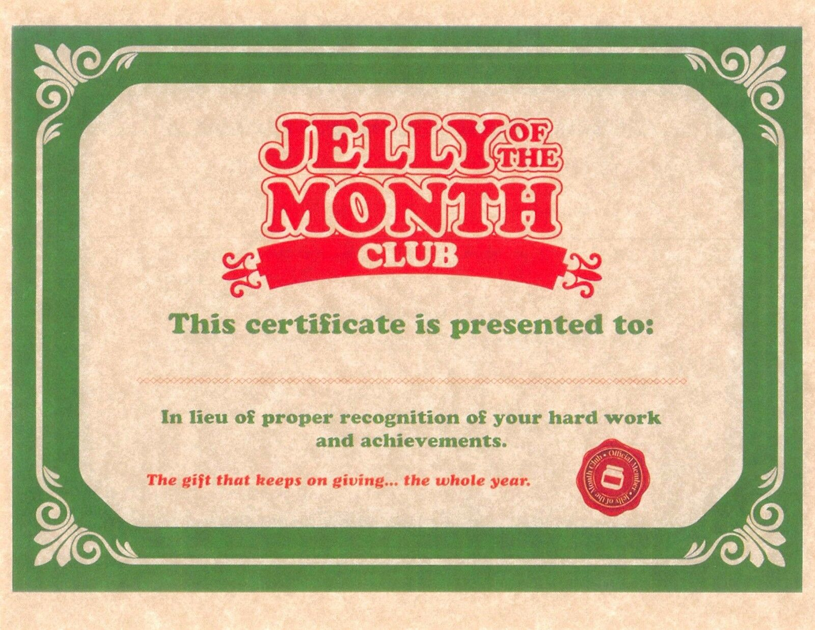 item 2 national lampoons christmas vacation jelly of the month club certificate national lampoons christmas vacation jelly of the month club - Jelly Of The Month Club Christmas Vacation