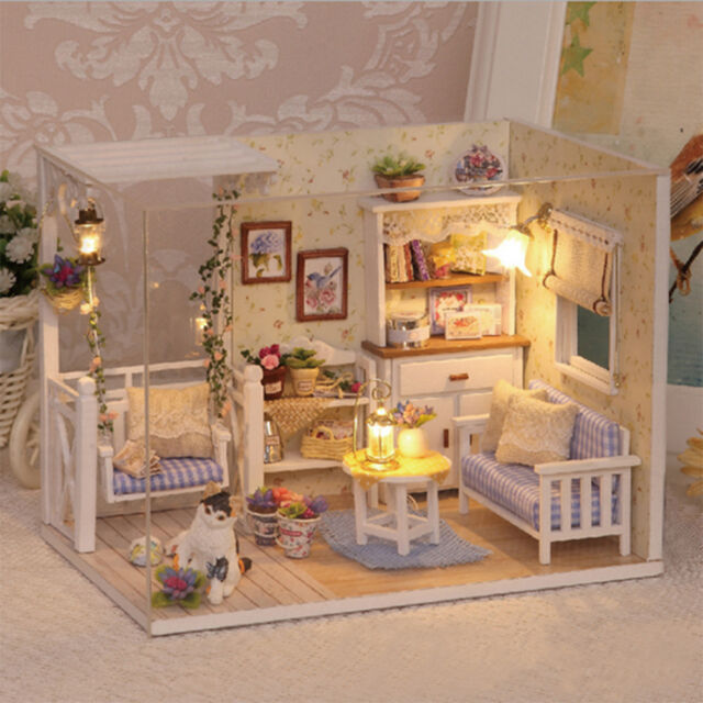 furniture miniature. Doll House Furniture Kids Diy Miniature Dust Cover 3D Wooden Dollhouse Toys BH