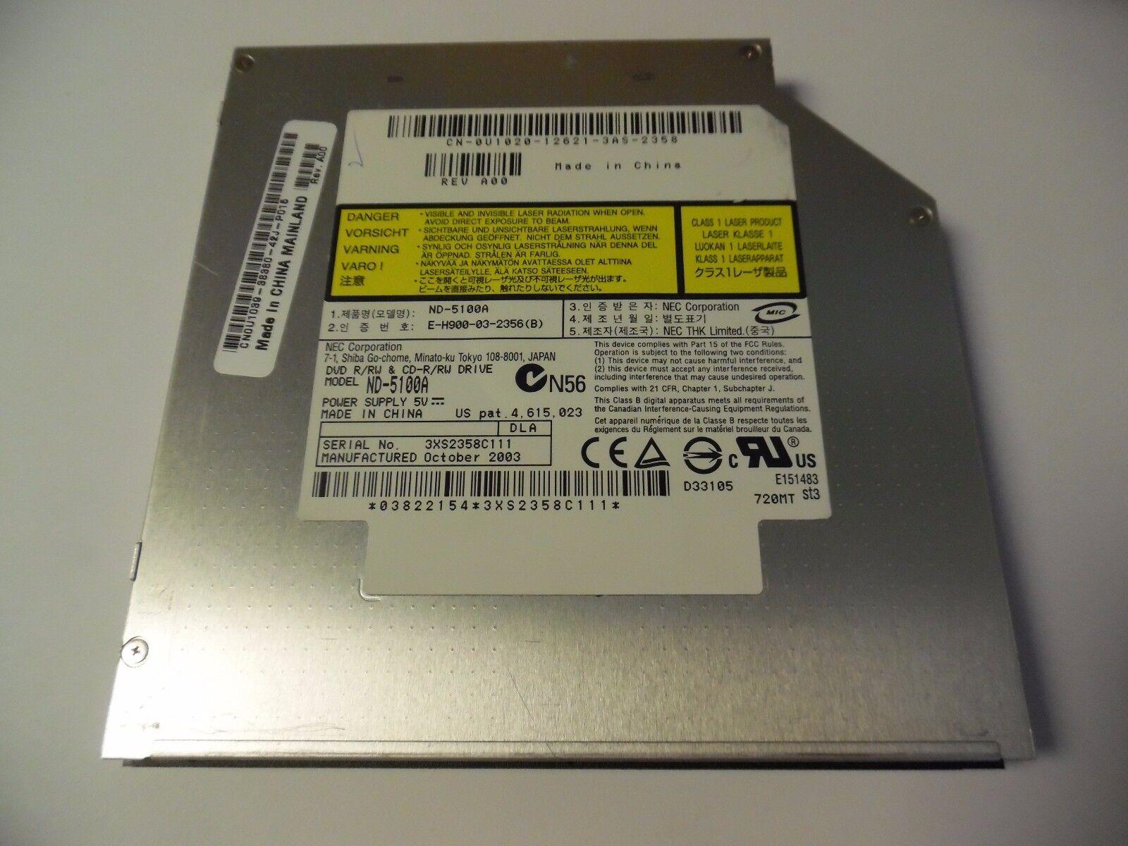 NEC DVD RW NDa - Dell Community