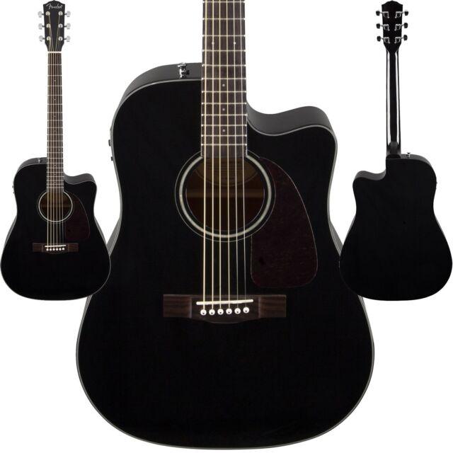 fender cd 140sce v2 black acoustic electric guitar cd140sce 140 sce ebay. Black Bedroom Furniture Sets. Home Design Ideas