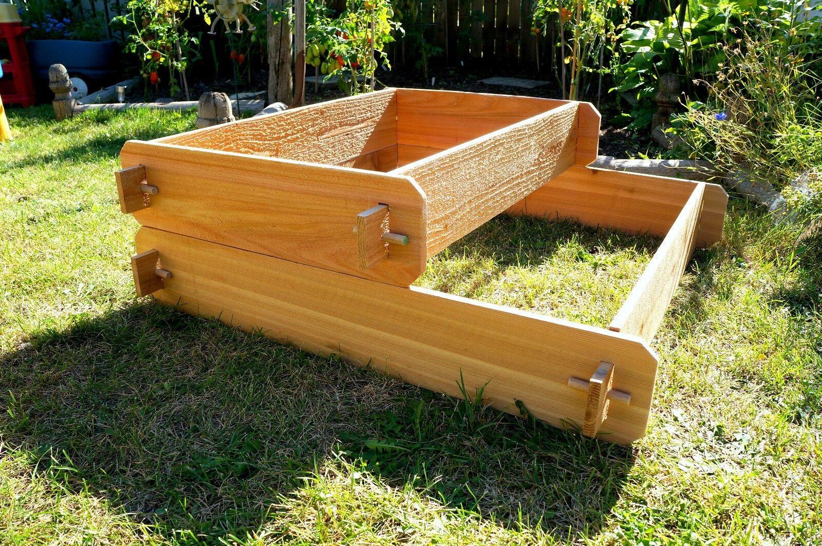 Timberlane Gardens Garden Bed Raised Planter Cedar Vegetable Kit ...