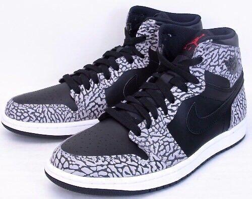 Nike Air Jordan 1 High Unsupreme Black Cement Grey Red Elephant 839115-013  Sz 9 | eBay