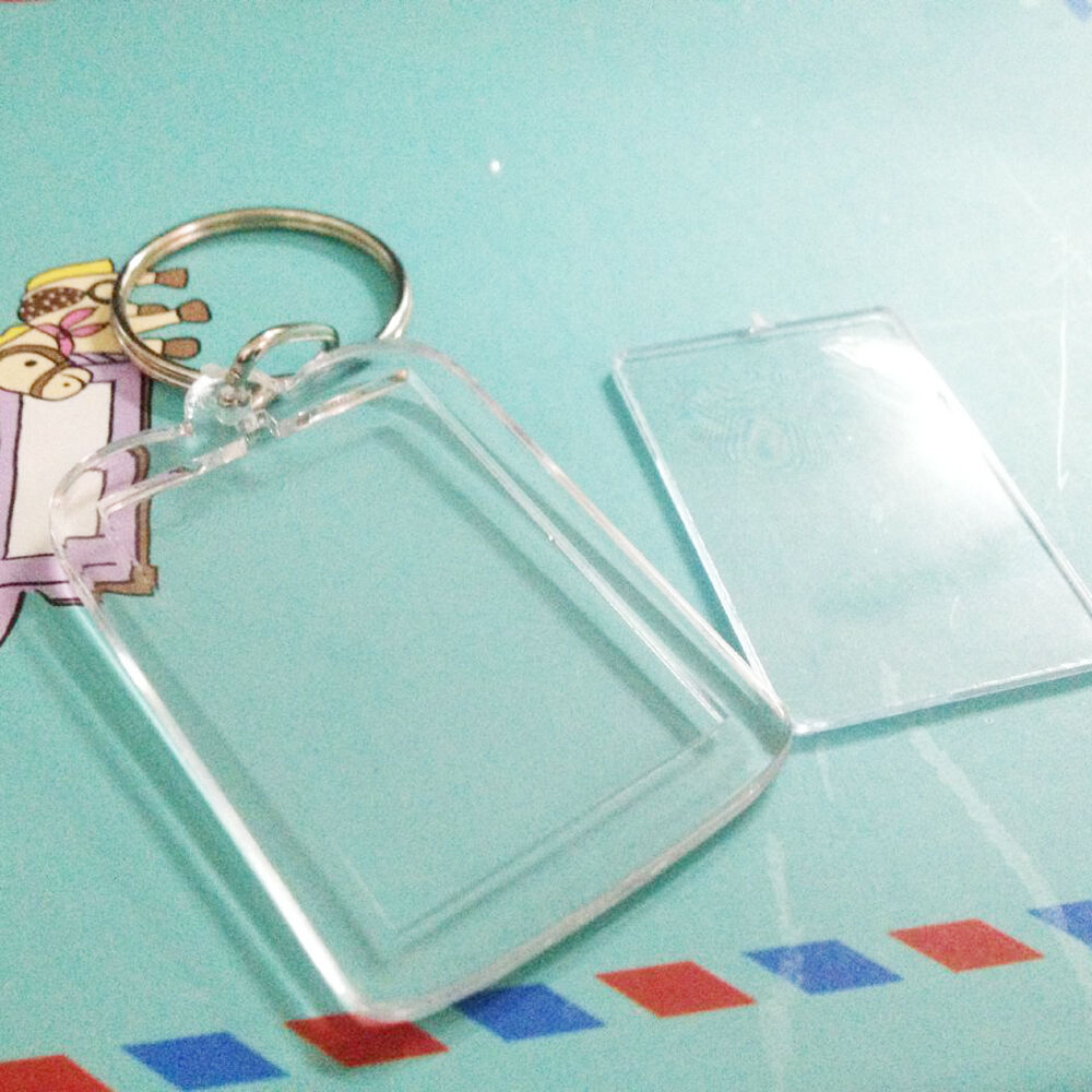 100x clear acrylic blank frame keyrings photo picture insert brand new lowest price jeuxipadfo Image collections