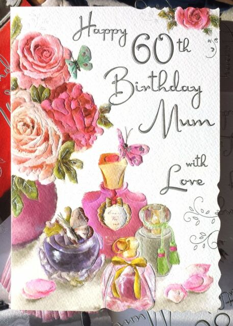 Happy 60th birthday mum with love great 60 greeting card lovely happy 60th birthday mum with love great 60 greeting card with lovely words bookmarktalkfo Choice Image