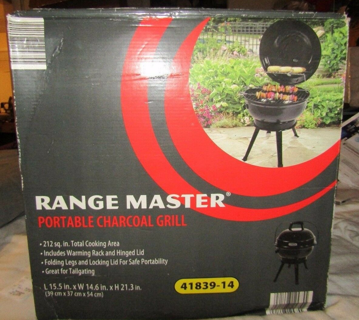 range master charcoal grill portable tailgate backyard outdoor