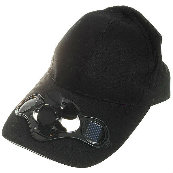 Solar Powered Fan Hat Cooling Baseball Cap Outdoor Camping