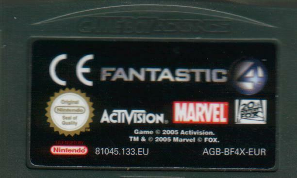 - Fantastic 4 ( Fantastischen Vier) Game Boy Advance (SP, DS, DS Lite) - gut -