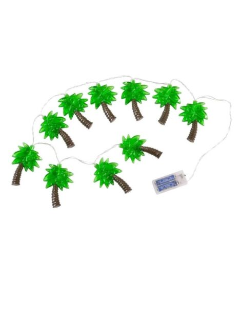 NIB Tropical Palm Tree LED String Lights Paradise On Your Patio BY Wembley