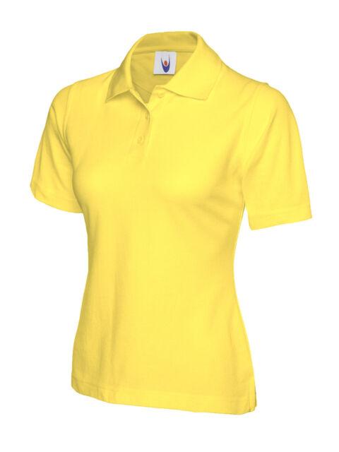 5 X Uneek Ladies Polo Shirt Sizes 8 - 22 Womens Casual Tee Classic ... 403365edb