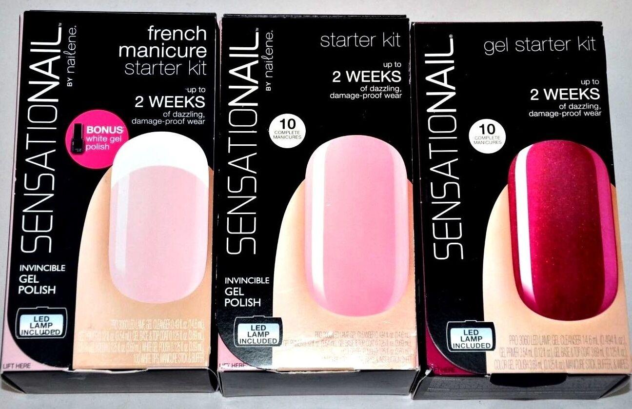 Sensationail gel polish starter kit - pink chiffon | eBay