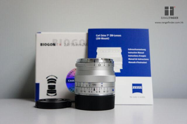 Brand New Carl Zeiss Biogon T* ZM 35mm F2.0 Lens (SILVER) for Leica M / EVIL