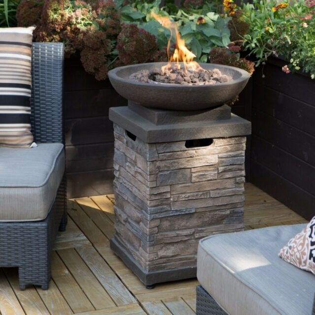 Patio Deck Fire Pit Bowl Table Propane Backyard Outdoor ...