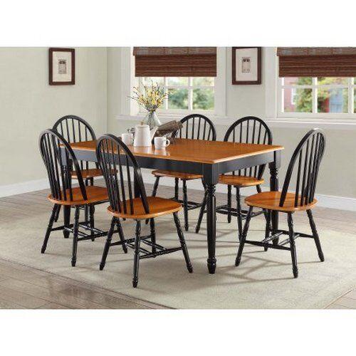 7 piece kitchen dining set farmhouse table 6 chairs solid wood home 7 piece kitchen dining set farmhouse table 6 chairs solid wood home furniture workwithnaturefo