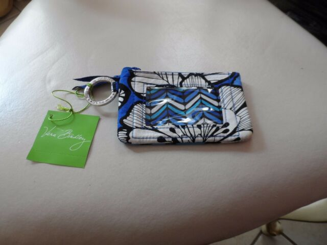 f3fa4a5d1 Vera Bradley zip Window ID holder in Blue Bayou pattern NWT