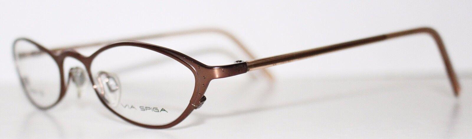 Via Spiga BIELLA Pecan DESIGNER Optical Eyeglass Frame for Women ...