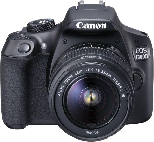 Canon EOS 1300D Fotocamera Reflex 18 Mpx Kit Obiettivo EF-S 18-55 III Scheda SD