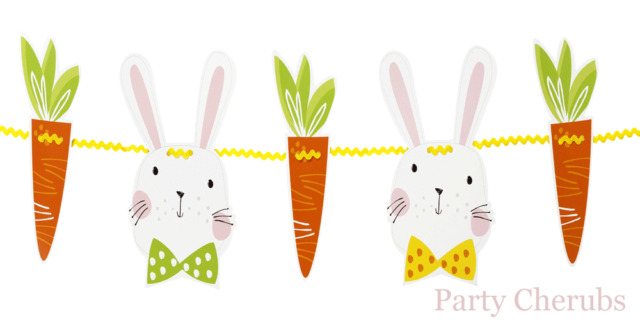 EASTER BUNNY GARLAND x 5 METRES - USE TO DECORATE YOUR EASTER EGG HUNT