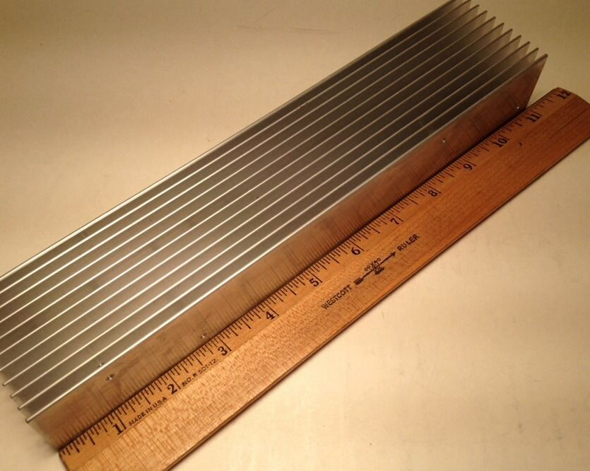 Large reclaimed extruded aluminum heatsink 11 x 2 1 2 x 1 1 2 picture 1 of 11 sciox Choice Image