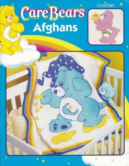 Care Bears Crochet Afghans Pattern Book Leisure Arts 3789 6 Designs