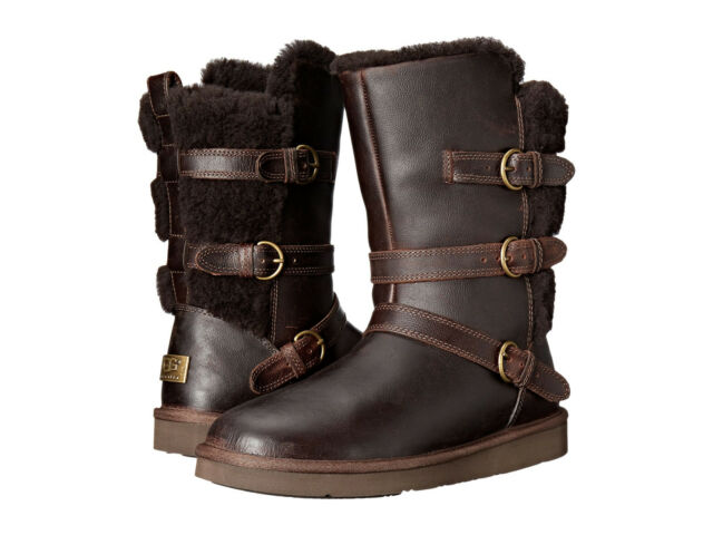 UGG Boots Womens - UGG Becket Leather Chocolate
