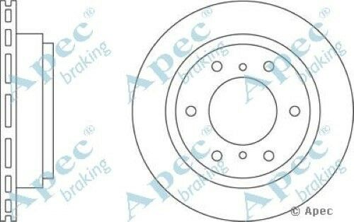 1x OE Quality Replacement Rear Axle Apec Vented Brake Disc 6 Stud 300mm - Single
