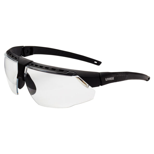 uvex avatar safety glasses with clear lens black frame ebay
