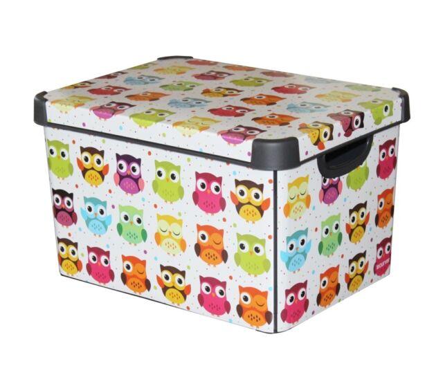 Curver Stockholm Large Design Deco Storage Box with Lid 22L - Owls - FREE Pu0026P  sc 1 st  eBay & Curver Box | eBay Aboutintivar.Com