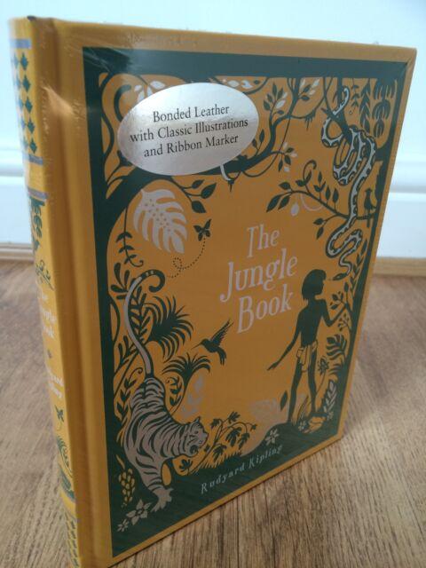 RUDYARD KIPLING THE JUNGLE BOOK LEATHER BOUND HARDBACK BOOK