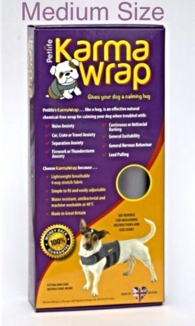 Petlife Karma Wrap Dog Anxiety Coat ~ MEDIUM Size ~ Effective, Natural & Safe