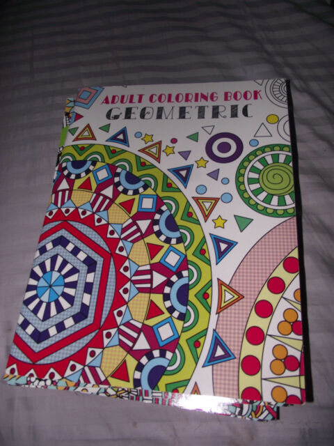 BRAND NEW Adult Coloring Book Geometric Paperback