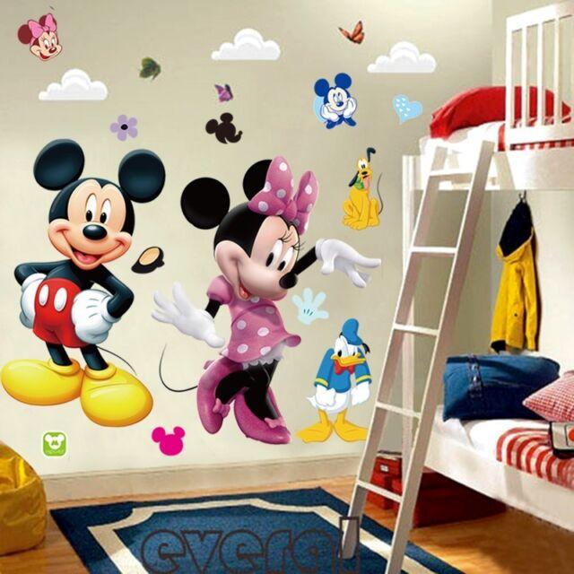 Mickey Mouse Minnie Vinyl Wall Decals Sticker Kids Nursery Room Decor Mural Diy