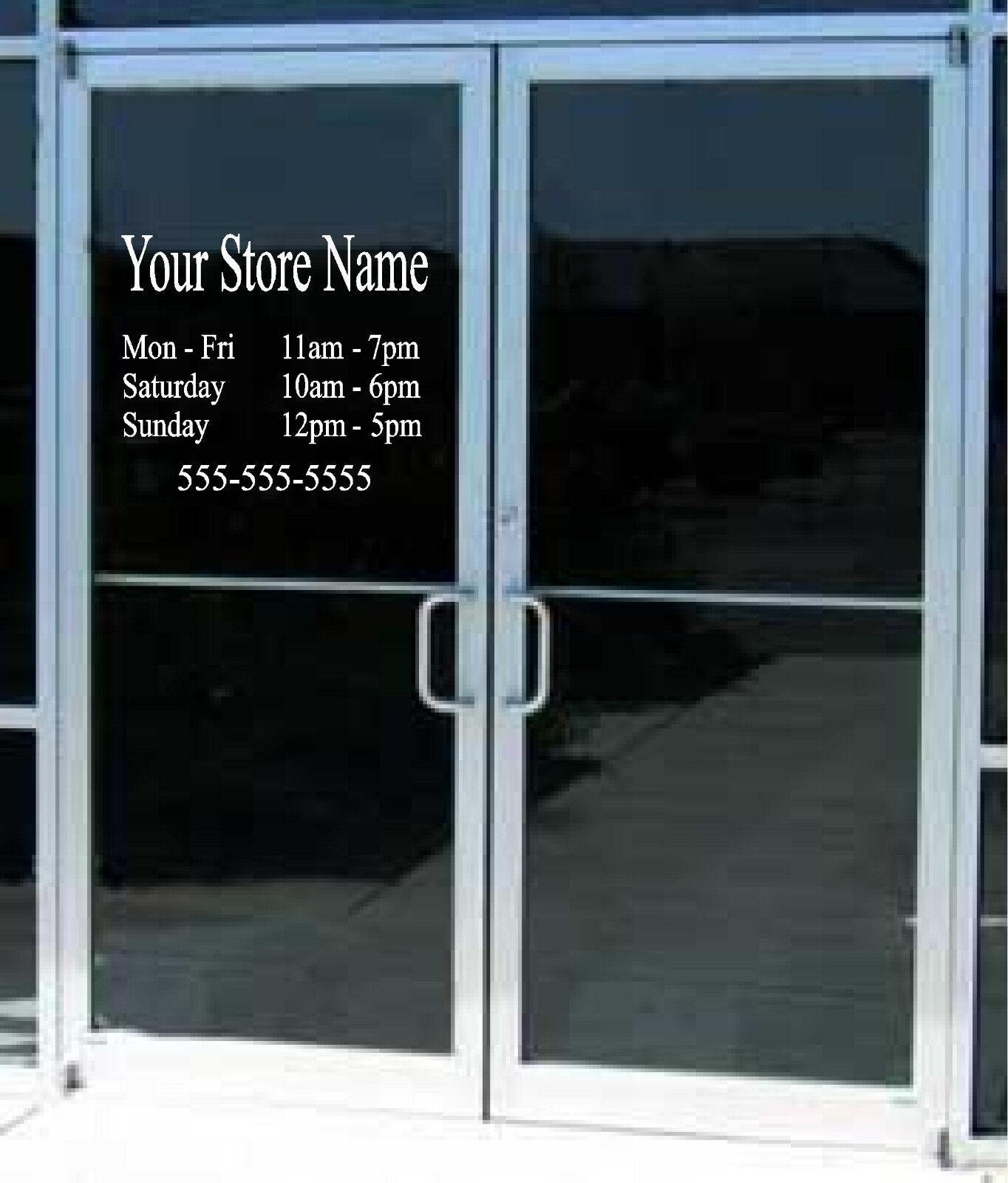 Custom Business Hours Sign Vinyl Decal Sticker X Window Door - Custom vinyl decal stickers for business