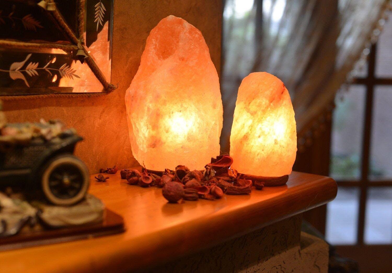 WBM 1301B Himalayan Natural Crystal Salt Basket Lamp Bundle with ...