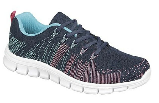 Dek STARLIGHT Lace Trainer With Memory Foam Sock Navy/Aqua/Fuchsia  Textile/Synt