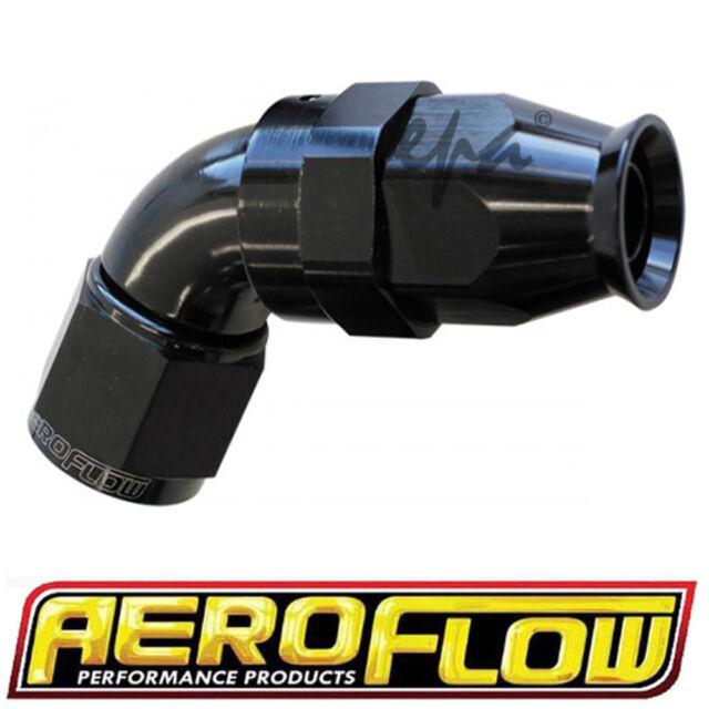 AEROFLOW -6 AN 570 SERIES BLACK 60º HOSE END SUITS TEFLON HOSE AF578-06DBLK