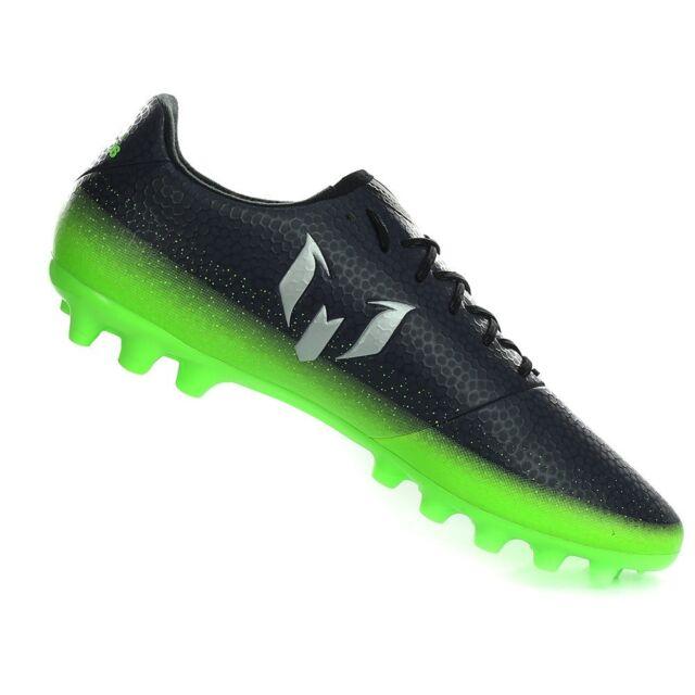 Adidas Messi 16.3 Ag Scarpe da Calcio Uomo Nero Dark Grey/Silver Metallic/Sol