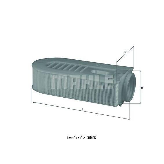 Luftfilter MAHLE KNECHT LX 1686/1