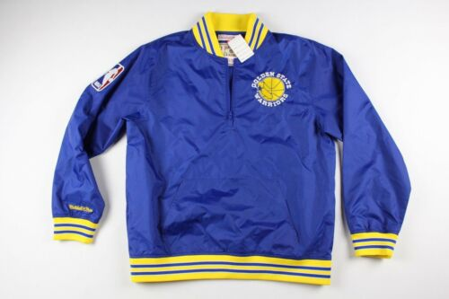 70cdee91fc7 Mitchell   Ness New Rare Sample MITCHELL and NESS Mens Large Golden State  Warriors Jacket Blue