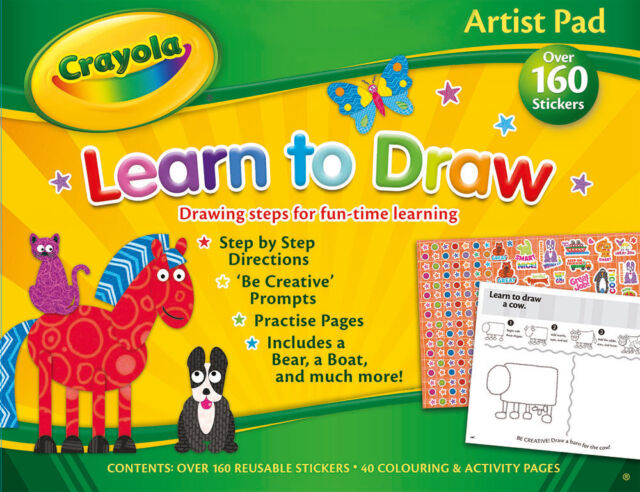 Crayola Artist Pad Learn to Draw Educational Childrens Activities ...