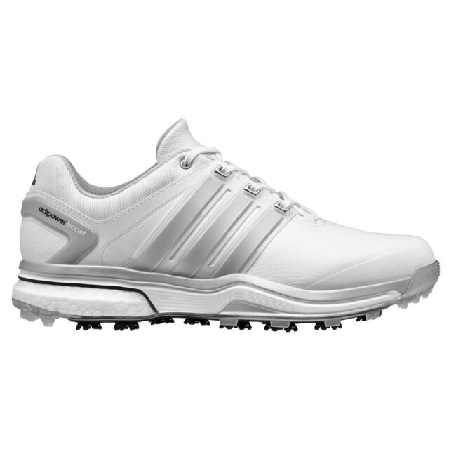 NEW MEN'S ADIDAS ADIPOWER BOOST WHITE/GREY GOLF SHOES Q46752/Q44540- PICK A