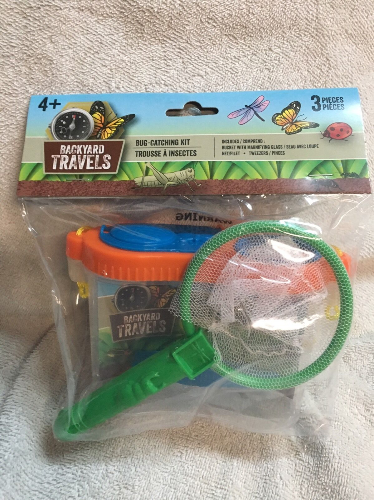 3pc educational kids back yard bug catching kit catch u0026 w