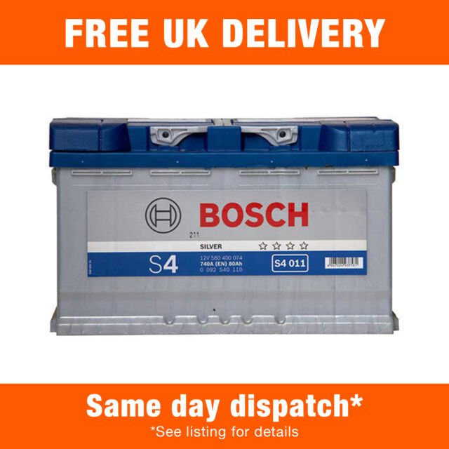 0/1 B13 Bosch S4 Car Battery 12V 80Ah Type 115 740CCA OEM Quality Replacement