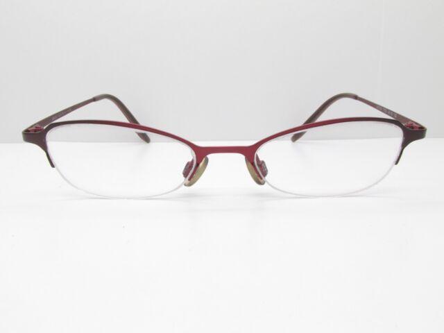 Anne Klein AK7505 Eyewear Frames 46-18-135 Red Rectangle Half ...