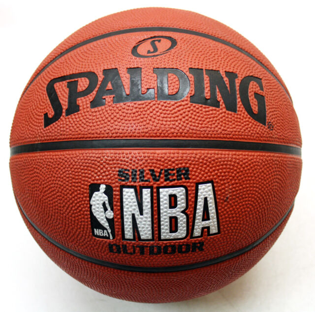 Spalding silver nba outdoor basketball ball size 7 inflated ebay - Spalding basketball images ...