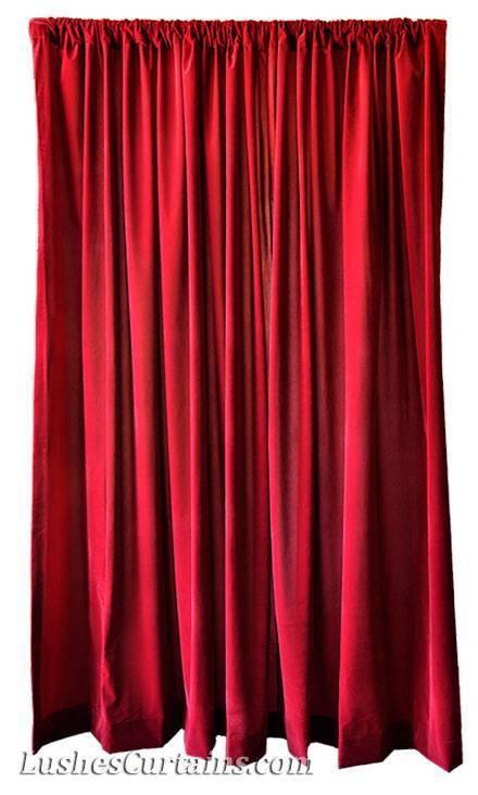 Extra Large Backdrop Room Divider Drapes Burgundy Velvet 14ft
