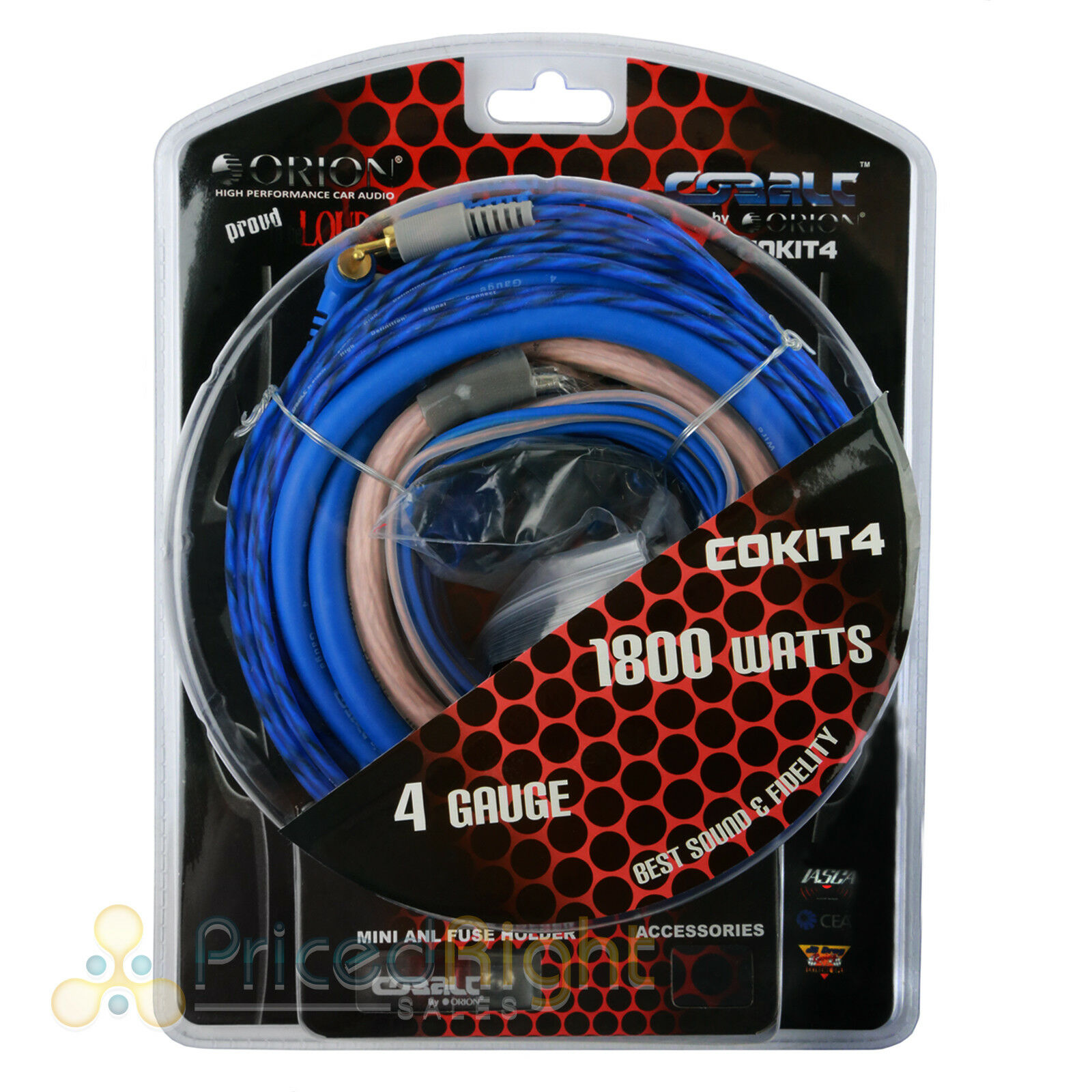 Cobalt ORION Complete Amplifier Kit 4 Gauge COKIT4 | eBay