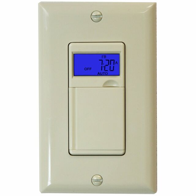 Enerlites het01 7 days digital in wall programmable timer switch 7 day digital programmable timer light switch for outdoor lights ivory aloadofball Choice Image