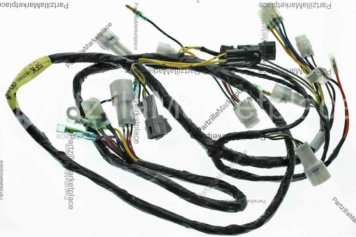 s l1600 03 yamaha banshee 350 wire harness electrical wiring yfz350 2x4 ebay  at gsmportal.co