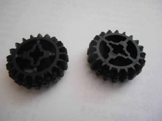 2 x Lego Technik Technic  Zahnrad / Zahnräder 20 Zähne schwarz 32269 42030 Neu
